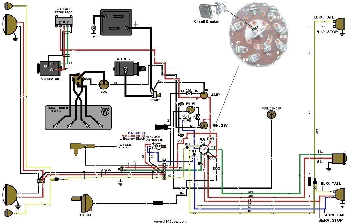 MB_GPW_Wiring_Harness_Mid_late jeep wiring diagrams jeep relay wiring \u2022 wiring diagrams j 1974 cj5 wiring harness at edmiracle.co